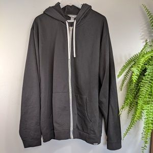 Eddie Bauer TXL Black Zip up Sweatshirt Hoodie